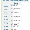 "Men's sizing for shorts and bibs waist sizes in inches... I'm going to double check these numbers because I'm pretty sure they're running small and the 3XL sample bibs we got were fitting right around 40""-42""."