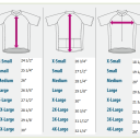 Visual Sizing Chart Men's in inches. These are the main measurements you'll need to consider.