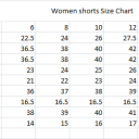 Women Shorts Sizing Chart