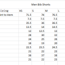 Men Bib Short Sizing
